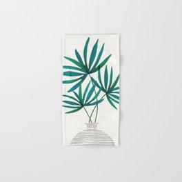 Fan Palm Fronds / Tropical Plant Illustration Hand & Bath Towel