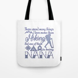 Hiking Nana Tote Bag