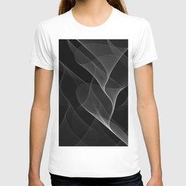 Black and White Flux #minimalist #homedecor #generativeart T-shirt