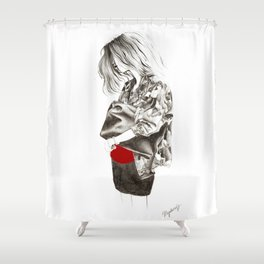 Military Jacket Shower Curtain