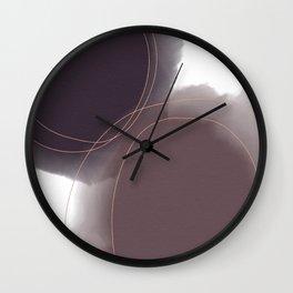 Purple Watercolor Blobs Wall Clock