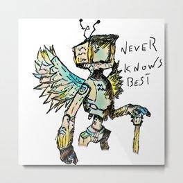 A black winged angel. Metal Print