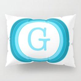 Blue letter G Pillow Sham
