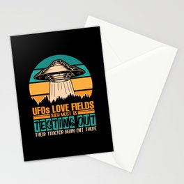 UFOs Love Fields Testing their Tractor beam shirt Stationery Cards