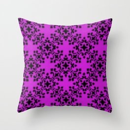 Vintage Brocade Damask Dazzling Violet Throw Pillow