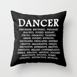 Words Of A Dancer Throw Pillow