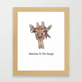 Giraffe WELCOME TO THE JUNGLE Framed Art Print