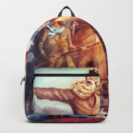 American Masterpiece, Abolitionist John Brown, Tragic Prelude American West portrait painting by John Steuart Curry Backpack