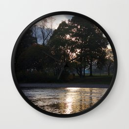 Sunset over River Ness Inverness Wall Clock