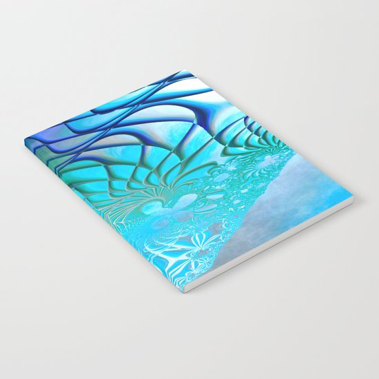Web of the Universe (cool sea blue-green) Notebook