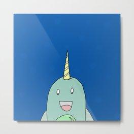 Sea Unicorn Metal Print