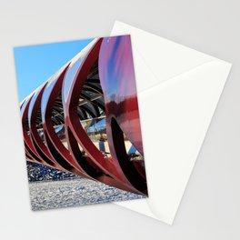 Calgary Peace Bridge in Winter Stationery Cards