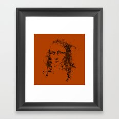 Modern Lisa (orange) Framed Art Print