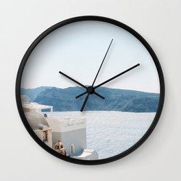 Nea Kameni Island Wall Clock