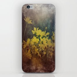 Abstract Yellow Daisies iPhone Skin