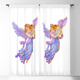 The Antique Angel Muse - Love of Poetry Blackout Curtain