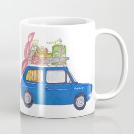 Blue Vintage car Coffee Mug