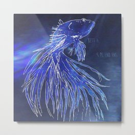 Betta Splendens Metal Print