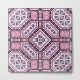 Victorian Art Deco Medieval Pattern light purple SB25 Metal Print