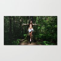 christ Canvas Prints featuring Jesus Christ by Marina Stelte