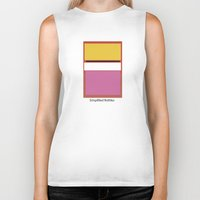 rothko Biker Tanks featuring Simplified Rothko by ELCORINTIO