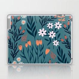 Beautiful Springtime Garden Daisy And Tulip Pattern Laptop & iPad Skin