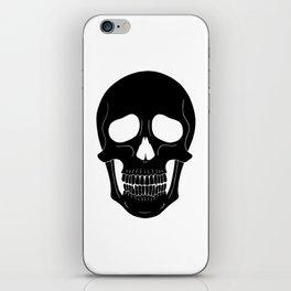 Skull (Black) iPhone Skin