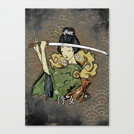 Samurai Woman, Geisha Warrior, Ronin, Gift to Any Martial Arts Girl Canvas Print