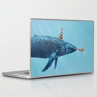 party Laptop & iPad Skins featuring Party Whale  by Terry Fan