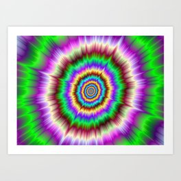 Color Explosion in Violet and Green Art Print