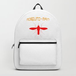 Mosquito Man Insect Comic Saying Funny Blood Super Hero Sucking Gift idea Backpack