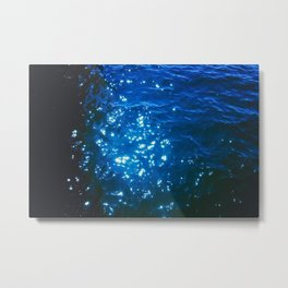 light of the star on the blue water Metal Print