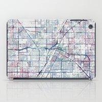 las vegas iPad Cases featuring Las Vegas map by MapMapMaps.Watercolors