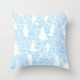 Elegant Christmas Trees Holiday Pattern Throw Pillow