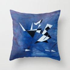 blue pattern art  Throw Pillow