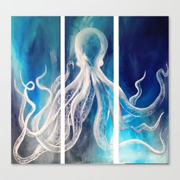 Octopus Tryptic Canvas Print