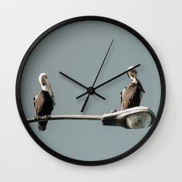 Mine, Mine, Pelican - LG Wall Clock