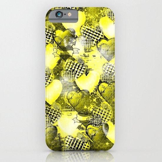 Light Bulb Hearts Series (yellow) iPhone & iPod Case