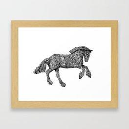 Gypsy Horse Doodle Art Framed Art Print