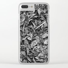 Fall Monochrome Clear iPhone Case