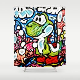 Yoshi Zentangle Shower Curtain