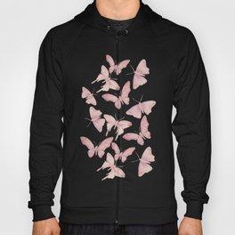 Butterfly Pattern soft pink pastel Hoody