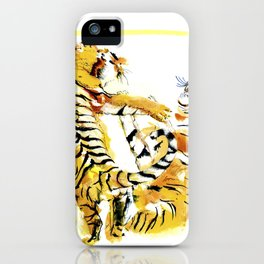 Tiger Fight iPhone Case