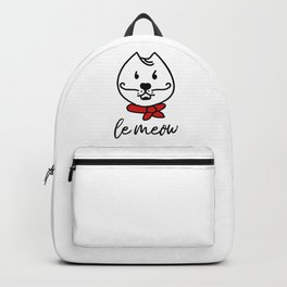 Le Meow french cat Backpack