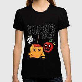 love apple Paradies Horror Movie Halloween Fruit Gift Present Scarry Chocolate T-shirt