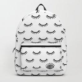 Observant: Black on White Pattern Backpack