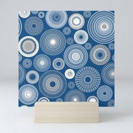 Circles Classic Blue Mini Art Print