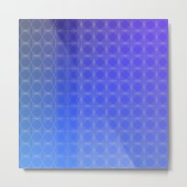 Blue To Purple Light to Dark Scale Ombre Overlapping Circle Gradient Metal Print