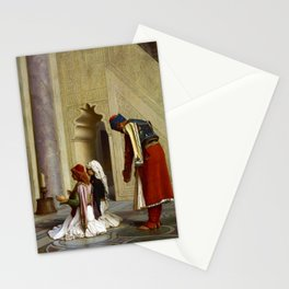 12,000pixel-500dpi - Jean-Leon Gerome - Young Greeks At The Mosque - Digital Remastered Edition Stationery Cards
