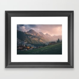 Evening in the Mountains Framed Art Print